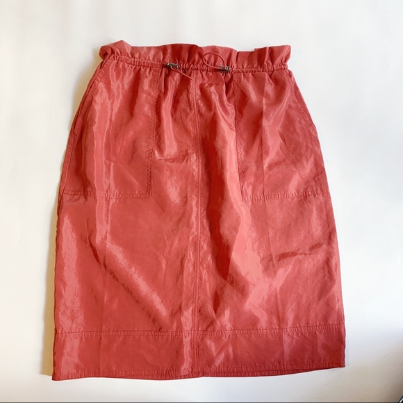 GAP Dresses & Skirts - GAP Orange Drawstring Skirt with Pockets S NWT
